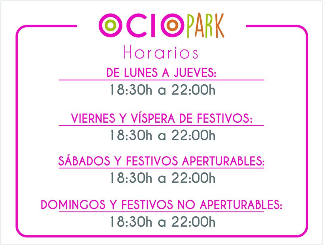 Horario_OCIOPARK_verano_080719