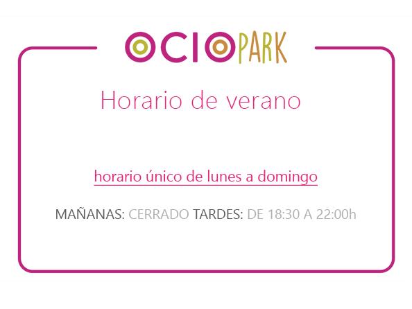 Horario_Parque_Ociopia_verano_2018